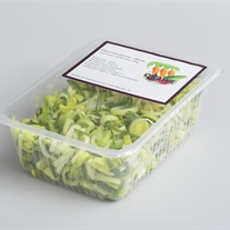 leek - plastic tray with topseal